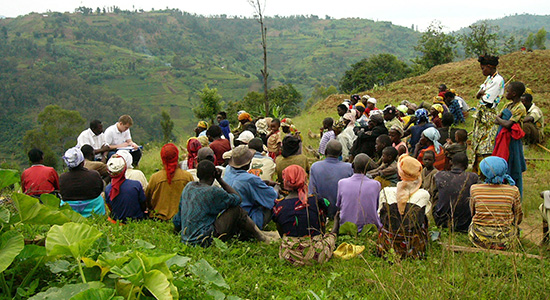 Anthropological fieldwork in Rwanda
