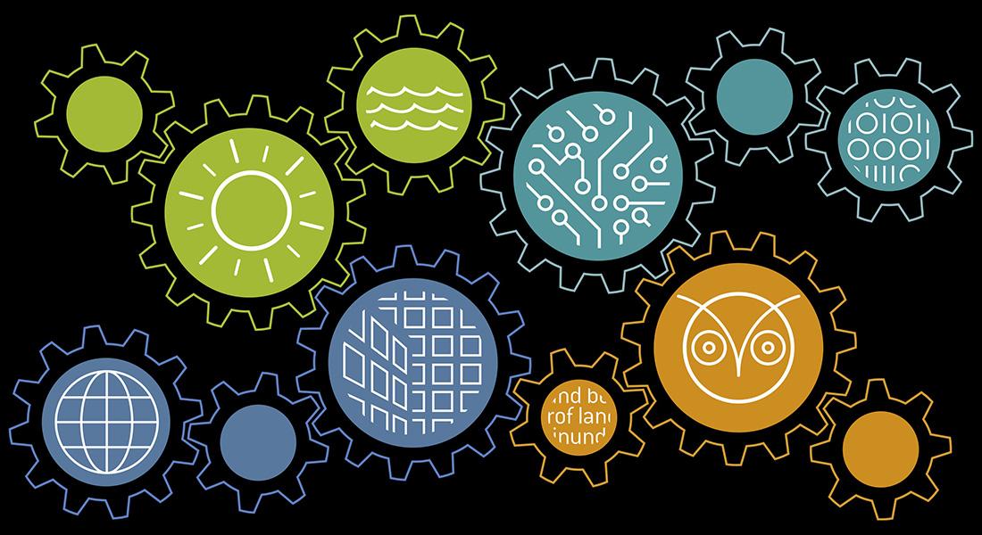 Social science strategic icons